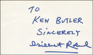 GILBERT ROLAND - AUTOGRAPH NOTE SIGNED