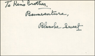 BLANCHE SWEET - AUTOGRAPH NOTE SIGNED