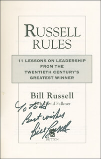 BILL RUSSELL - INSCRIBED BOOK SIGNED
