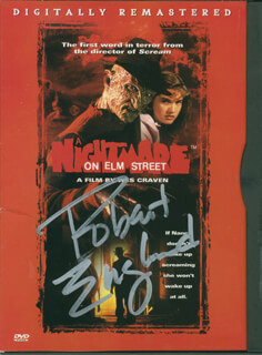 ROBERT ENGLUND - DVD/CD COVER SIGNED