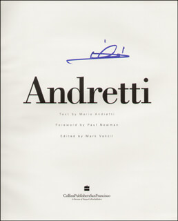 Autographs: MARIO ANDRETTI - BOOK SIGNED