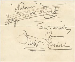 VICTOR HERBERT - AUTOGRAPH MUSICAL QUOTATION SIGNED