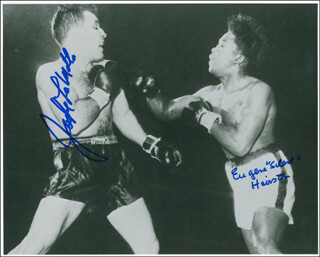 JAKE THE RAGING BULL LA MOTTA - AUTOGRAPHED SIGNED PHOTOGRAPH CO-SIGNED BY: EUGENE HAIRSTON