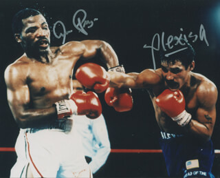 Autographs: ALEXIS ARGUELLO - PHOTOGRAPH SIGNED CO-SIGNED BY: AARON PRYOR
