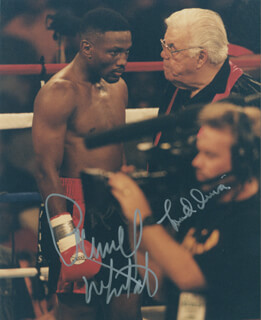 PERNELL WHITAKER - AUTOGRAPHED SIGNED PHOTOGRAPH CO-SIGNED BY: LOU DUVA