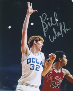 BILL WALTON - AUTOGRAPHED SIGNED PHOTOGRAPH