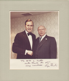 PRESIDENT GEORGE H.W. BUSH - AUTOGRAPHED INSCRIBED PHOTOGRAPH