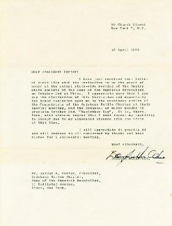 GENERAL DOUGLAS MACARTHUR - TYPED LETTER SIGNED 04/15/1954