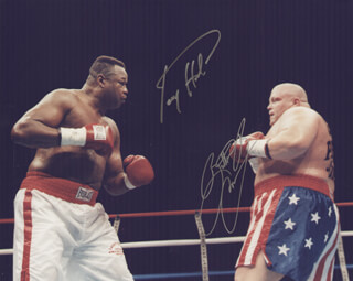 LARRY HOLMES - AUTOGRAPHED SIGNED PHOTOGRAPH CO-SIGNED BY: ERIC BUTTERBEAN ESCH