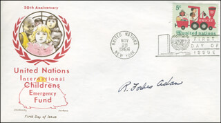 GENERAL RONALD FORBES ADAM - FIRST DAY COVER SIGNED