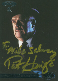 PAT HINGLE - INSCRIBED TRADING/SPORTS CARD SIGNED