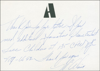 ALAINA REED - AUTOGRAPH LETTER SIGNED 12/1974