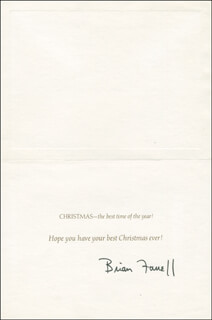 BRIAN FARRELL - CHRISTMAS / HOLIDAY CARD SIGNED