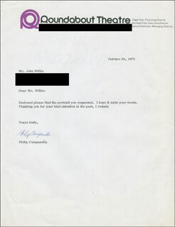 PHILIP CAMPANELLA - TYPED LETTER SIGNED 10/23/1973