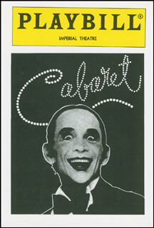 CABARET PLAY CAST - TRADING/SPORTS CARD UNSIGNED