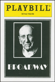 Autographs: BROADWAY PLAY CAST - TRADING/SPORTS CARD UNSIGNED