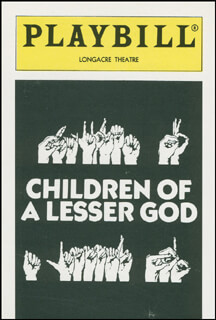 Autographs: CHILDREN OF A LESSER GOD PLAY CAST - TRADING/SPORTS CARD UNSIGNED