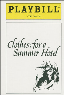 Autographs: CLOTHES FOR A SUMMER HOTEL PLAY CAST - TRADING/SPORTS CARD UNSIGNED