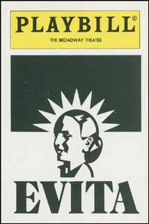EVITA PLAY CAST - TRADING/SPORTS CARD UNSIGNED