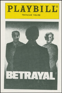 Autographs: BETRAYAL PLAY CAST - TRADING/SPORTS CARD UNSIGNED