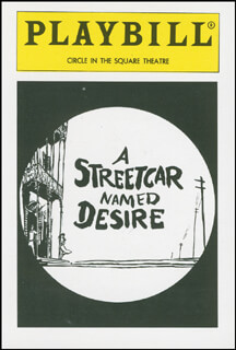 Autographs: A STREETCAR NAMED DESIRE PLAY CAST - TRADING/SPORTS CARD UNSIGNED