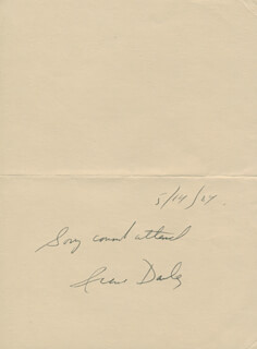 IRENE DAILEY - AUTOGRAPH SENTIMENT SIGNED 05/14/1984