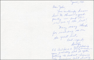 DOROTHY SWERDLOVE - AUTOGRAPH LETTER SIGNED 06/01/1986