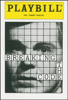 Autographs: BREAKING THE CODE PLAY CAST - TRADING/SPORTS CARD UNSIGNED