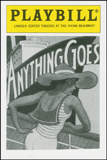 Autographs: ANYTHING GOES PLAY CAST - TRADING/SPORTS CARD UNSIGNED