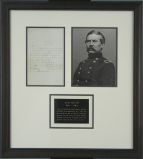 Autographs: MAJOR GENERAL JOHN BUFORD - AUTOGRAPH LETTER SIGNED 12/14/1861
