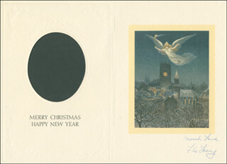 FLORENCE LACEY - CHRISTMAS / HOLIDAY CARD SIGNED