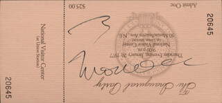 VICE PRESIDENT WALTER F. MONDALE - INAUGURAL TICKET SIGNED CIRCA 1977