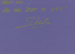 SHEILA ANDERSON - AUTOGRAPH LETTER SIGNED 09/01/1982