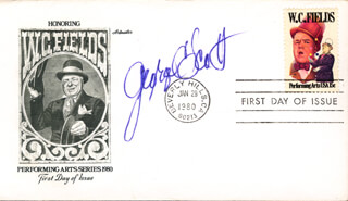 GEORGE C. SCOTT - FIRST DAY COVER SIGNED