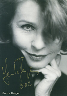 SENTA BERGER - PRINTED PHOTOGRAPH SIGNED IN INK 2002
