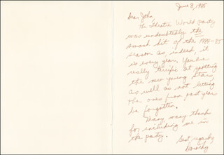 DOROTHY SWERDLOVE - AUTOGRAPH LETTER SIGNED 06/08/1985