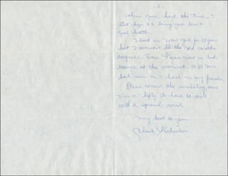 CHARLES FREDRICKSON - AUTOGRAPH LETTER SIGNED CIRCA 1983