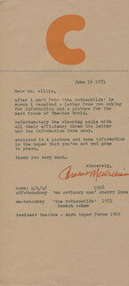 CAROLINE MCWILLIAMS - TYPED LETTER SIGNED 06/16/1971