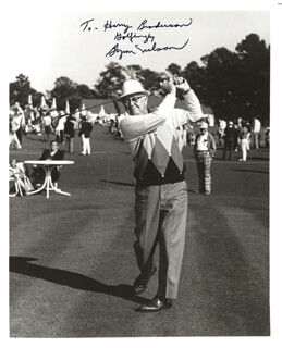 BYRON NELSON - AUTOGRAPHED INSCRIBED PHOTOGRAPH
