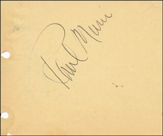 PAUL MUNI - AUTOGRAPH CO-SIGNED BY: MATTY KEMP