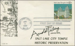 ARNOLD FRIBERG - FIRST DAY COVER SIGNED
