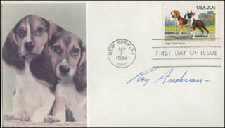 ROY ANDERSEN - FIRST DAY COVER SIGNED