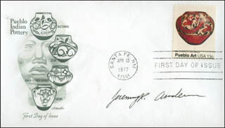 JEREMY RADCLIFFE ANDERSON - FIRST DAY COVER SIGNED
