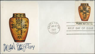 BRIAN BASSET - FIRST DAY COVER SIGNED 1984