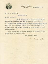 PRESIDENT THEODORE ROOSEVELT - TYPED LETTER SIGNED 11/22/1900