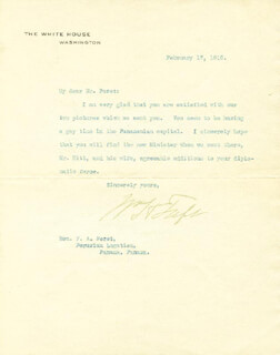 PRESIDENT WILLIAM H. TAFT - TYPED LETTER SIGNED 02/17/1910