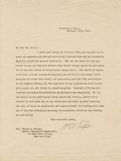 PRESIDENT WILLIAM H. TAFT - TYPED LETTER SIGNED 02/08/1909