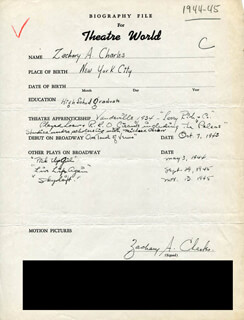 ZACHARY A. CHARLES - AUTOGRAPH RESUME SIGNED
