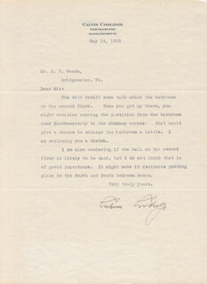 PRESIDENT CALVIN COOLIDGE - TYPED LETTER SIGNED 05/14/1932