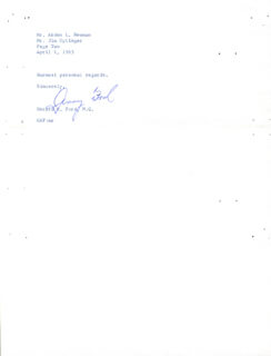 PRESIDENT GERALD R. FORD - TYPED LETTER SIGNED 04/01/1963